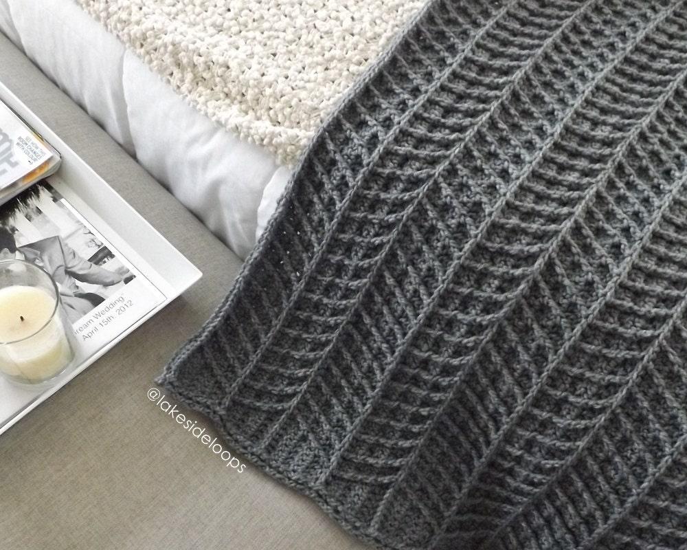 Crochet Pattern - Hayden Chevron Blanket/Afghan/Rug (includes 3 ...