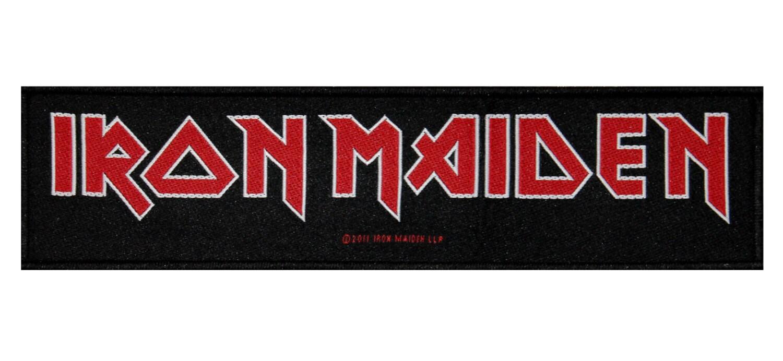 ss iron maiden band name logo british heavy metal rh etsy com Glam Metal Band Logos Nu Metal Band Logos