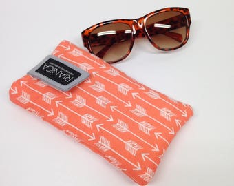 Orange arrow Cell phone or glasses cover