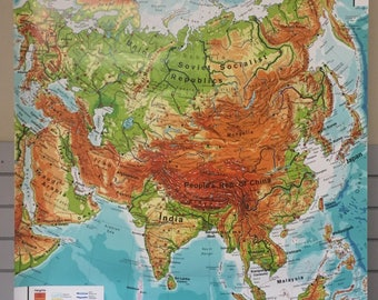 Westermann Asia Physical Hanging Map