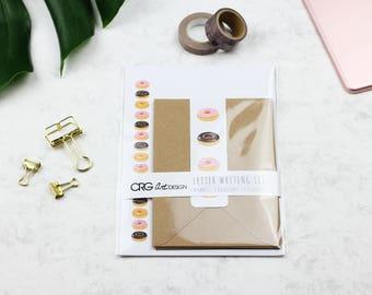 Donut Letter Writing Set | Snailmail Penpals Stationery