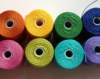 Crochet Beading Thread - Bright Collection