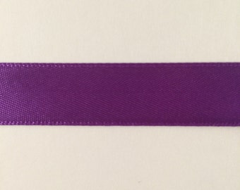 5/8 inch Purple Double Face Satin Ribbon