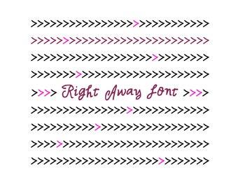 Right Away Font, Handwritten Digital Calligraphy, Hand Lettering, Handmade Handwriting Font, True Type Invitation Font