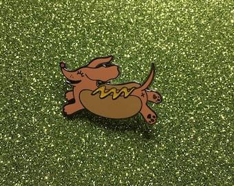 Hotdog pin brown
