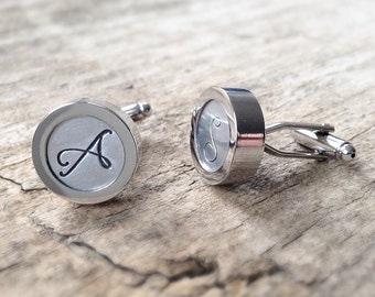 Wedding Gift Husband, Groomsmen Gift, Personalized Cufflinks, Custom Cufflinks, Monogram Cufflinks, Groom Cufflinks, Initial Cufflinks