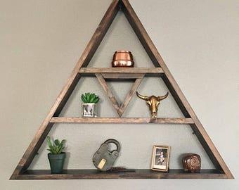 Wood Triangle Shelf Wall Art