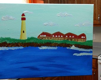 Cape May Lighthouse Painting