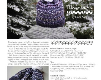 Mountains Fair Isle Hat - PDF Knitting Pattern
