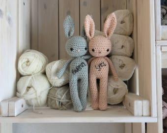 personalized amigurumi Bunny,crochet bunny,crochet toy newborn gift,newborn bunny gift,child gift,newborn birth gift,newborn shower gift,