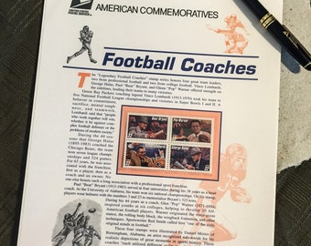 U.S. Postal Service Commemorative Panel: Football Coaches, No. 517 in a series, 1997