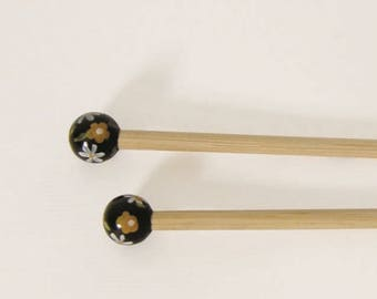 Handcrafted 5.5 bamboo knitting needles