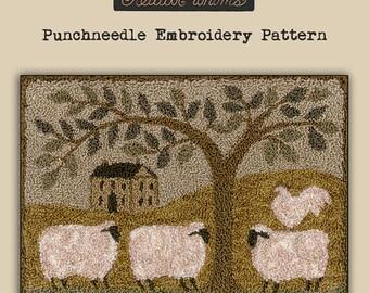 Punchneedle | Teresa Kogut | Pattern | Needlwork | DIY | Crafts | Wooly Estate | PN147