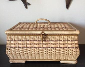 German Sewing Basket, Vintage Sewing Basket, Craft Storage, Vintage Home Decor