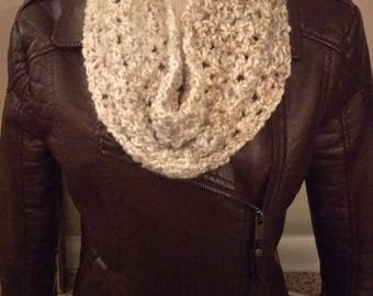 Crocheted Winter Christmas Gift Cowl