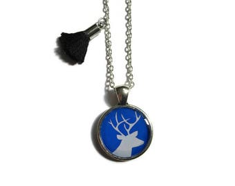 DEER NECKLACE -  Deer Jewelry - Kids Jewelry - Girl Jewelry - Christmas Reindeer - Fawn Pendant - Kids - Stag - Woodland Necklace Animal