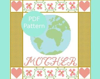 Mother Earth Cross Stitch Sampler Pattern
