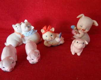 Craft Supplies - Practically Perfect Pigs, Made of Porcelain