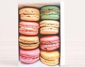 Paris Macaron greeting card - stationery, blank cards