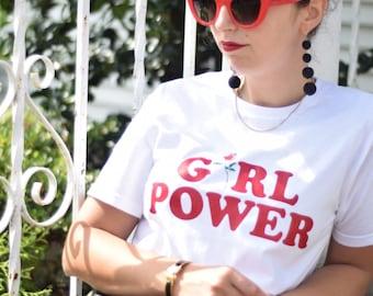 Girl Power Tshirt, Feminism Tee Girl Power Shirt, Girls Clothing shirt top, Tumblr shirt Cotton T-shirt, Mother Gift from Daughter, Mothers