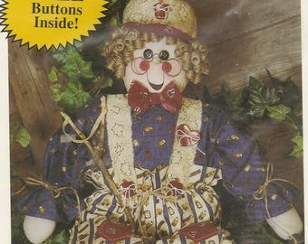 """Rustic Character Doll (Scarecrow) – Unopened Pattern Ray McDuffey Snips 'n Snails #448 """"RAY"""" – Great DIY Craft Pattern"""