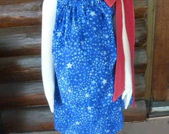 Fourth of July Pillowcase Dress/4th of July Pillowcase Dress/Pillowcase Dress/Holiday Dress