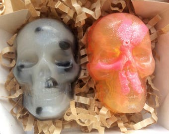 Novelty soap, skull soaps, skeleton soap, scary soap, sugar skull soap, gothic soap, horror soap, goth soap, witchy soap, ghost soap