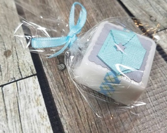 Baby boy shower favors diaper themed soaps