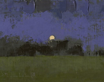 Afar - Oil Painting Original Landscape Painting - 5 x 7