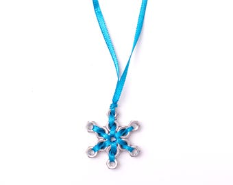 Star pendant, hex nuts necklace, various colors
