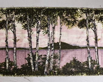 40s 50s Birch Haven Photo Novelty Print Fabric - Camera Classics by CoFabCo - 1940s Photography Art - Purple Chartreuse - 1/2 Yard - 49905