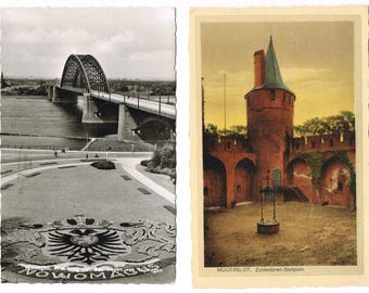 16 Vintage Postcards from Holland , small collection of old Dutch Postcards , The Netherlands
