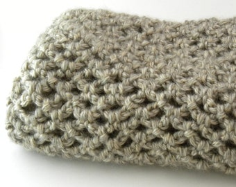 Crocheted Diamond Lace Stitch Infinity Scarf