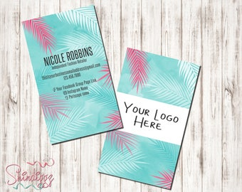 Custom Business Card, Small Business Owner, Boutique Business Cards, Tropical business cards