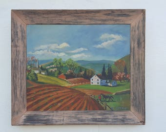 Rural Landscape  Painting By S. Stean .