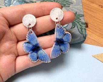 Blue Butterfly - Dangle Earrings - Adonis Blue