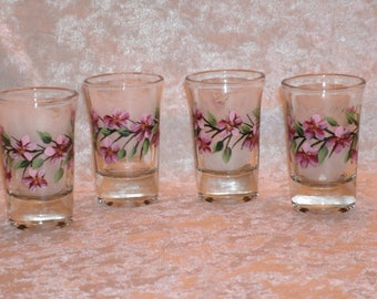 CHERRY BLOSSOM shot glasses, set of four