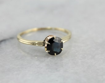 Simple Sapphire Solitaire Engagement Ring DD909N-P