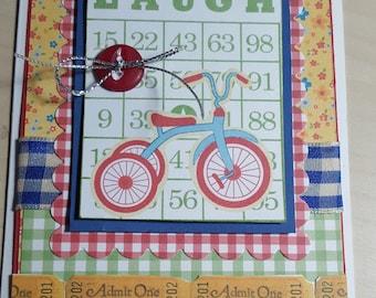 Happy Everything Bingo Card Laugh Handmade Card