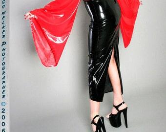 Hobble Skirt with optional back zipper or walking slit