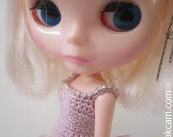 OOAK  Rosa Crocheted Evening Gown for Blythe