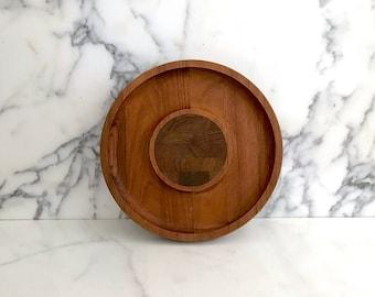 Vintage Mid Century Modern DANSK Teak Wood Tray Serving Platter Jens Quistgaard Design 1970s 1980s Danish Denmark