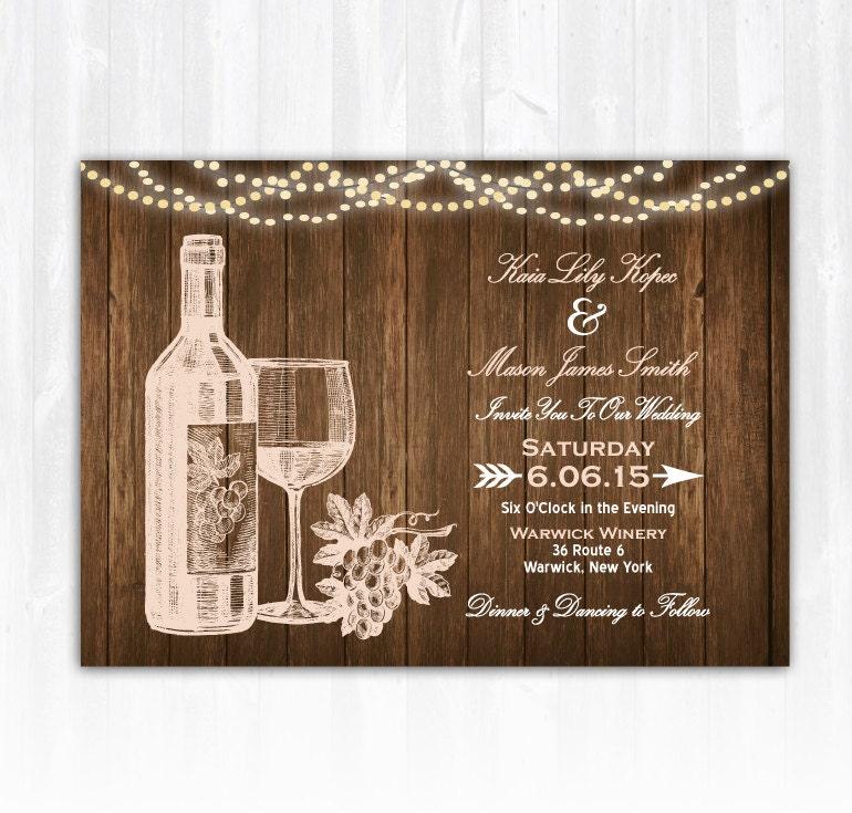 zoom Wine Wedding Invitation DIY PRINTABLE Digital