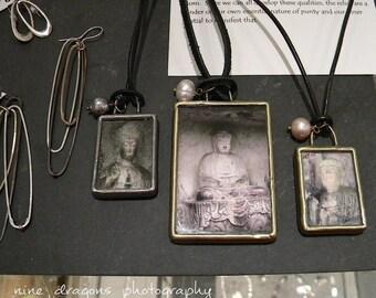 Large Buddha Pendant, Spiritual Necklace, Wearable Art Jewelry, Buddhist Necklace Large, Buddha Jewelry, Zen Necklace, Buddha Necklace