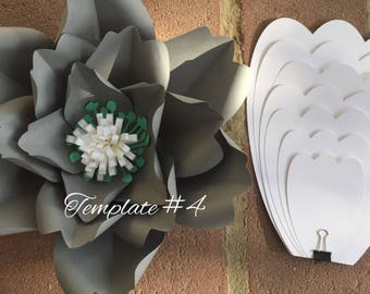 Hard Copy Paper Flower Template #4, DIY Paper Flower Backdrop
