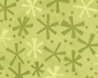Jenn Ski Fabric, Lime Jacks, Ten Little Things by Jenn Ski for Moda, 30505-26