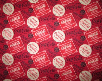 Coca Cola Coke VIntage Ads Drink Coke Cotton Fabric Fat Quarter or Custom Listing