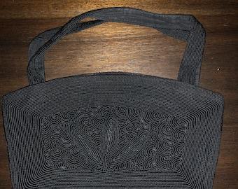 Vintage Black Corde Purse