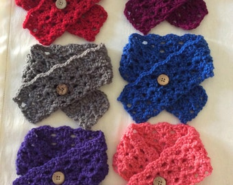 """FREE SHIPPING Toddler Scarf, Crochet Toddler Scarf, Choose from 7 different colors, Measures 3"""" x 28"""""""