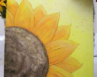 "Original 16x20 Acrylic Painting ""Sunflower"" on stretch canvas"